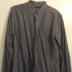 Theory Chambray-esque button down